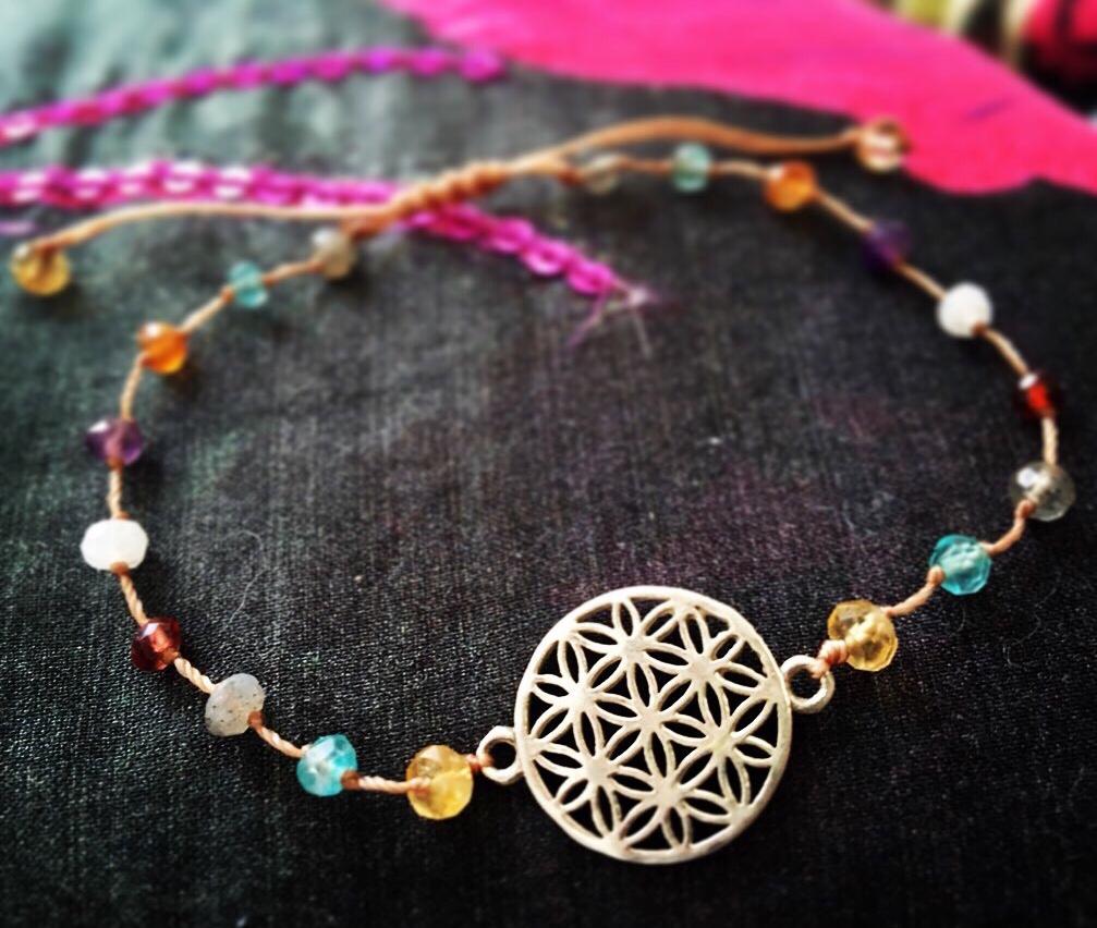 fleur de vie bracelet argent